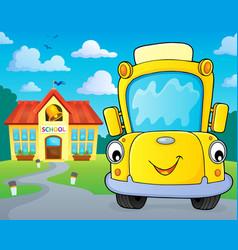 School bus thematics image 5 vector
