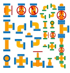 Set of pipeline elements vector image