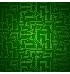 Shining Printed Circuit Board vector image
