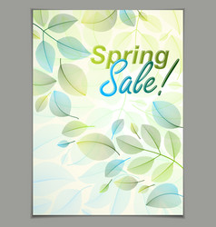 spring leaves vertical background nature seasonal vector image