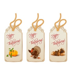 Thanksgiving shopping tags vector
