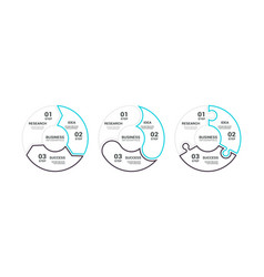 thin line flat round chart infographic template vector image