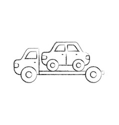 Tow truck assistance emergency for car vector