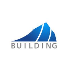 towering building logo concept design symbol vector image