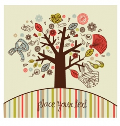 Tree with women accessories vector