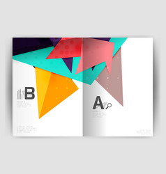 Triangle business print template vector