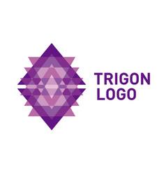 triangle logo icon vector image
