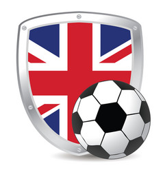 uk shield soccer vector image