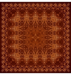 Vintage brown lacy ornate shawl pattern vector