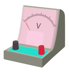 Voltmeter icon cartoon style vector