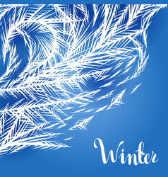 winter frozen window background vector image