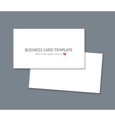 Business card template mock up vector image vector image