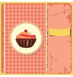Cake vintage vector image