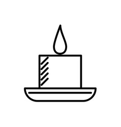candle in spa line icon sign vector image