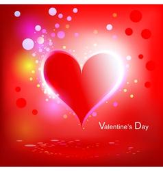 heart shiny holiday vector image vector image