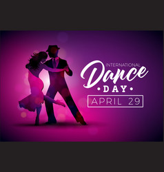 international dance day with vector image vector image