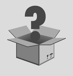 Opened cardboard box vector image