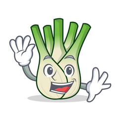 waving fennel character cartoon style vector image vector image