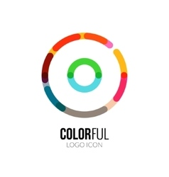 Abstract circle colorful logo design for vector image