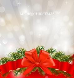 christmas ribbon background vector image vector image