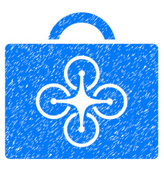 drone case grunge icon vector image vector image