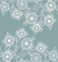 flower back vector image vector image