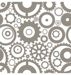 Gear wheels seamless background vector