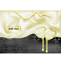 holiday background with white silk vector image