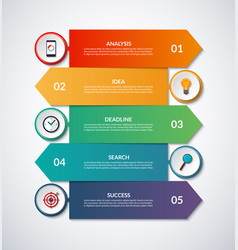 infographic arrows with circular design elements vector image