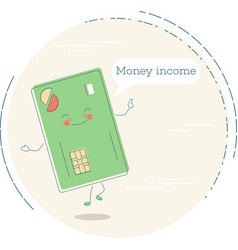 money income concept in line art style vector image