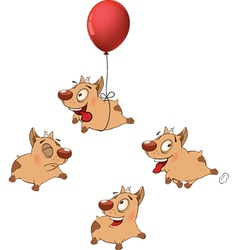 set funny dogs Cartoon vector image vector image