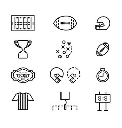 set of icons for american football vector image vector image