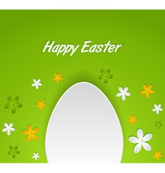 spring Easter egg card vector image vector image