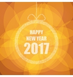 Beautiful greeting card with the new 2017 with vector image vector image