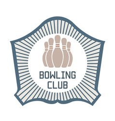 Bowling Club vector image vector image