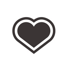 heart icon flat symbol for application or web vector image vector image
