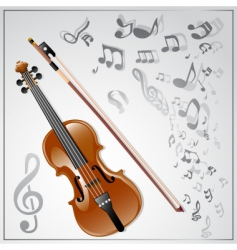 violin musical background vector image vector image
