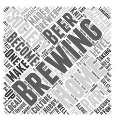 A brewing society word cloud concept vector