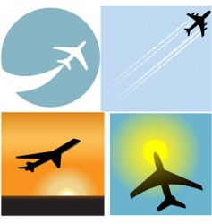 airline travel passenger vector image
