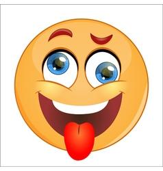 Crazy Emoticon vector image