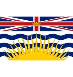 Flag of British Columbia correct size and colors vector image