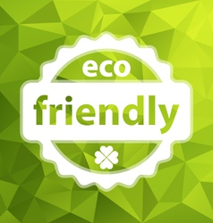 green eco friendly background vector image