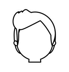 head man male thin line vector image vector image