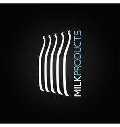 milk bottle glass design background vector image vector image