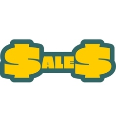 Sales outline yellow sticker vector image vector image