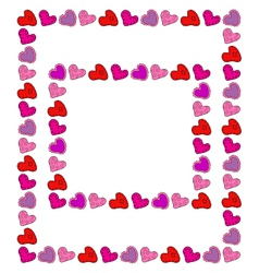 Two hand drawn hearts frames vector image vector image