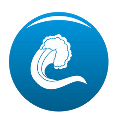 Wave nature icon blue vector