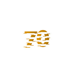 70 years anniversary celebration number template vector