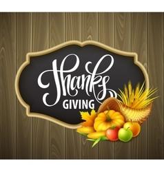 A thanksgiving cornucopia full vector