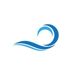abstract waves blue sea logo icon vector image